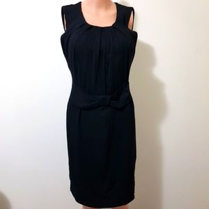 Alannah Hill Black Bow Dress 14 Ruched